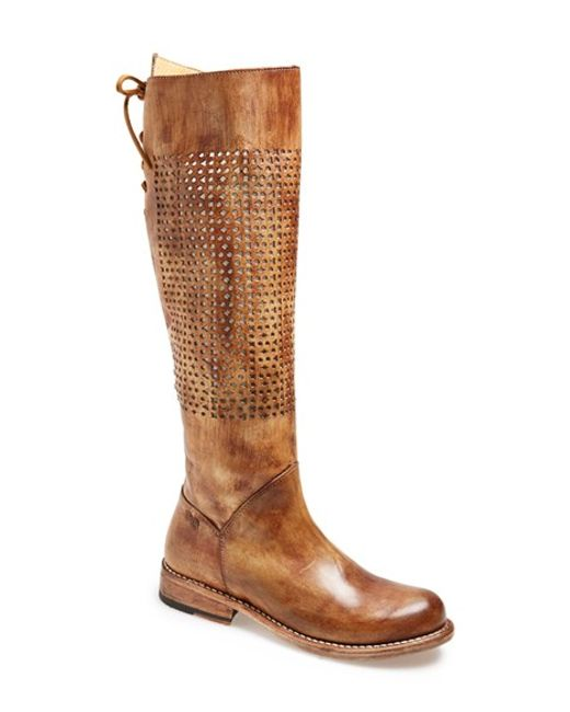 Bed Stu | Brown 'cambridge' Knee High Leather Boot | Lyst
