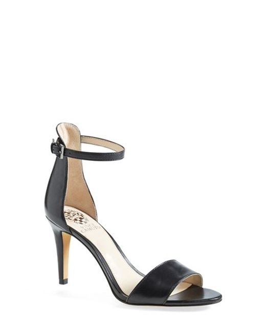 Vince Camuto | Black 'court' Ankle Strap Sandal | Lyst