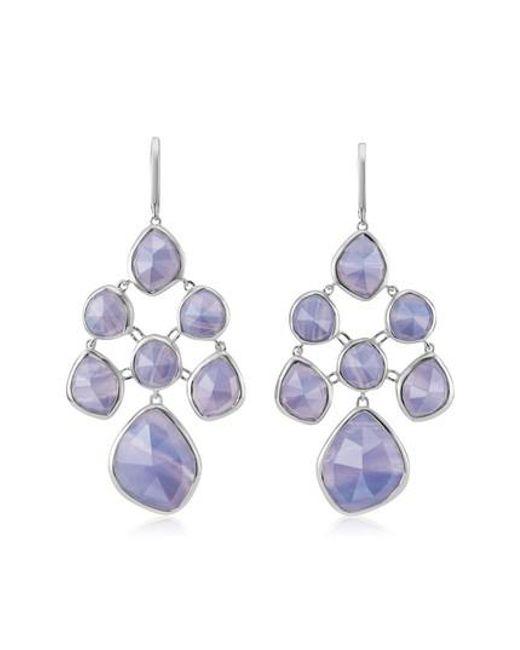Monica Vinader | Blue Siren Chandelier Earrings | Lyst
