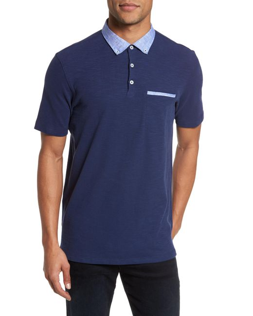 Good Man Brand - Blue Slub Jersey Cotton Polo Shirt for Men - Lyst