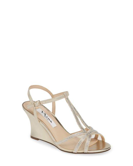 Nina Metallic Viveca Wedge Sandals