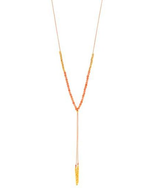 Gorjana | Metallic Power Stone Adjustable Y-necklace | Lyst