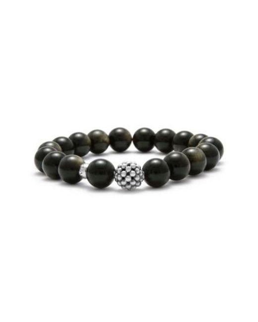 Lagos - Black Bead Stretch Bracelet - Lyst