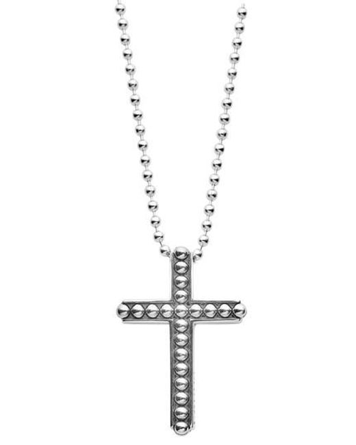 Lagos - Metallic Signature Caviar Cross Pendant Necklace - Lyst