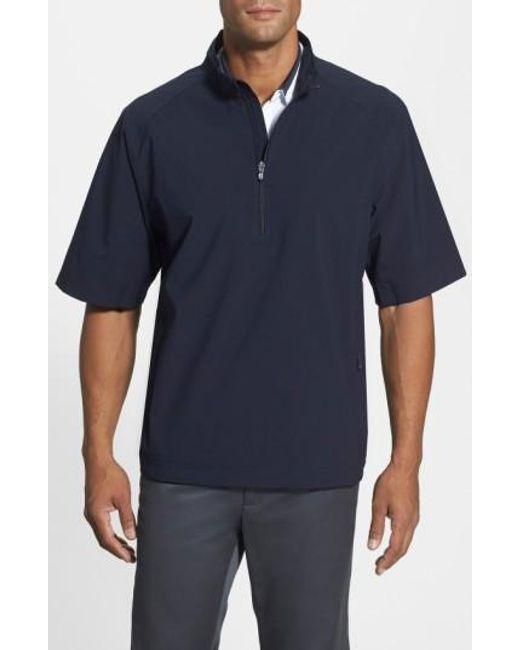 Cutter & Buck | Blue 'weathertec Summit' Short Sleeve Shirt for Men | Lyst