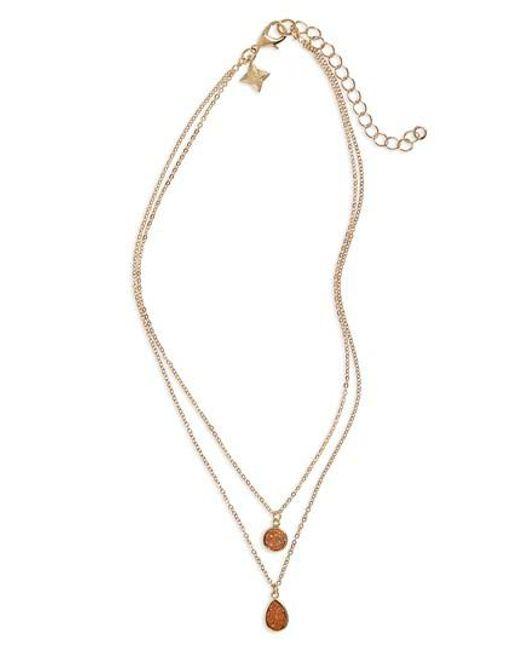 Panacea | Metallic Drusy Multistrand Necklace | Lyst