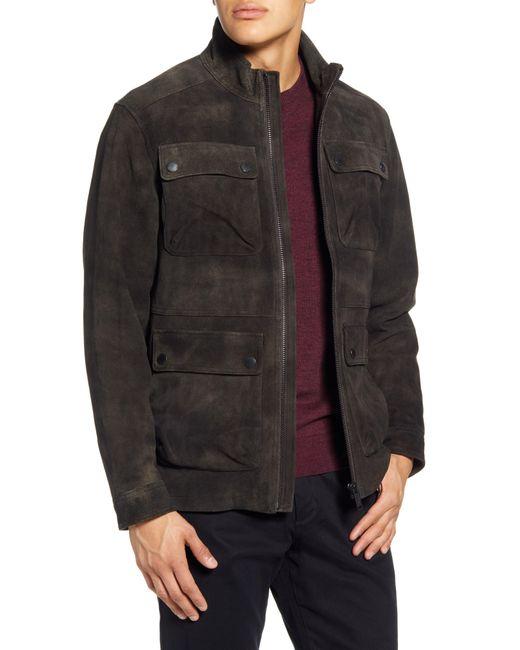 Rodd & Gunn Brown Mansfield Leather Field Jacket for men