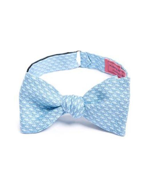 Vineyard Vines | Blue Whale Print Silk Bow Tie for Men | Lyst