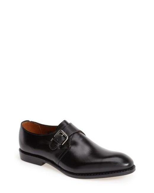 Allen Edmonds   Black Warwick Monk Strap Shoe for Men   Lyst