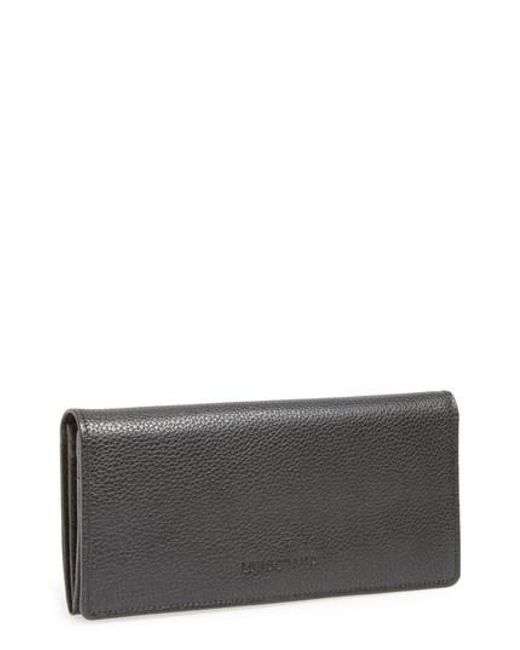 Longchamp - Black 'veau Foulonne' Continental Wallet - Lyst