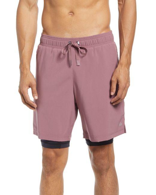 Alo Yoga Purple Unity 2-in-1 Shorts for men