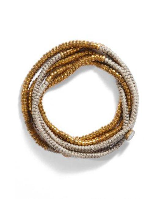 Serefina - Multicolor Beaded Wrap Bracelet - Lyst