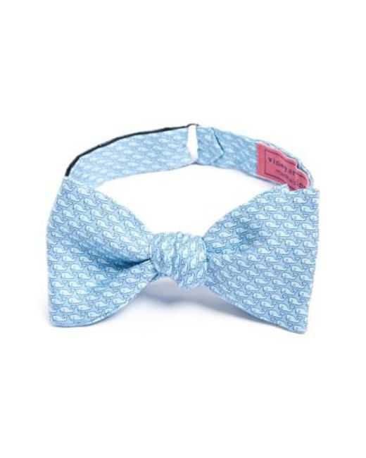 Vineyard Vines | Blue Whale Print Silk Bow Tie for Men | Lyst