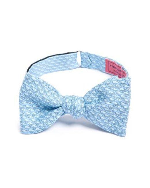 Vineyard Vines - Blue Whale Print Silk Bow Tie for Men - Lyst