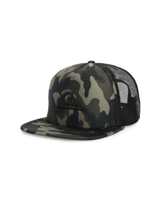 Lyst - Quiksilver All In Trucker Hat - in Green for Men 445e78cfebc