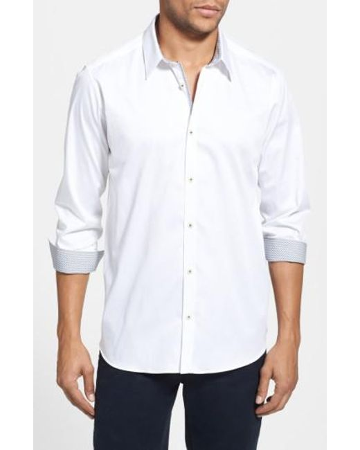 Ted Baker | White Plancuf Extra Slim Fit Stretch Sport Shirt for Men | Lyst