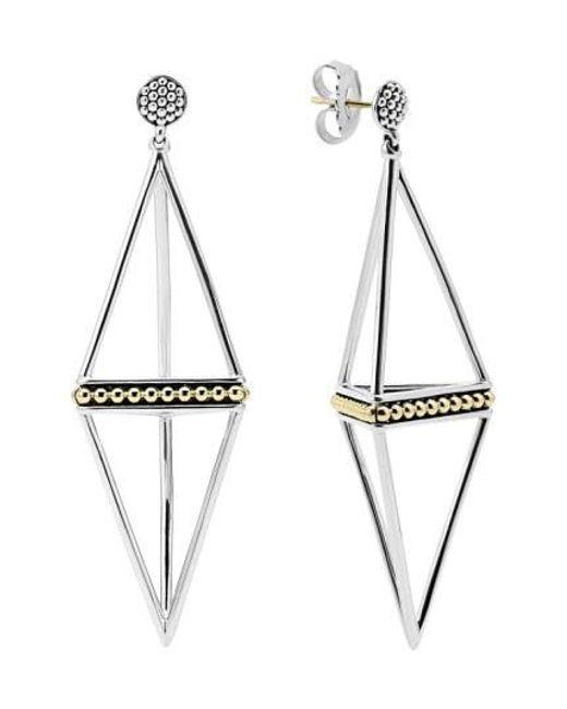 Lagos - Metallic 'ksl' Pyramid Drop Earrings - Lyst