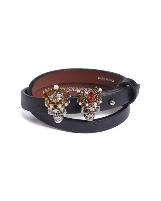 Alexander McQueen | Red King & Queen Wrap Bracelet | Lyst
