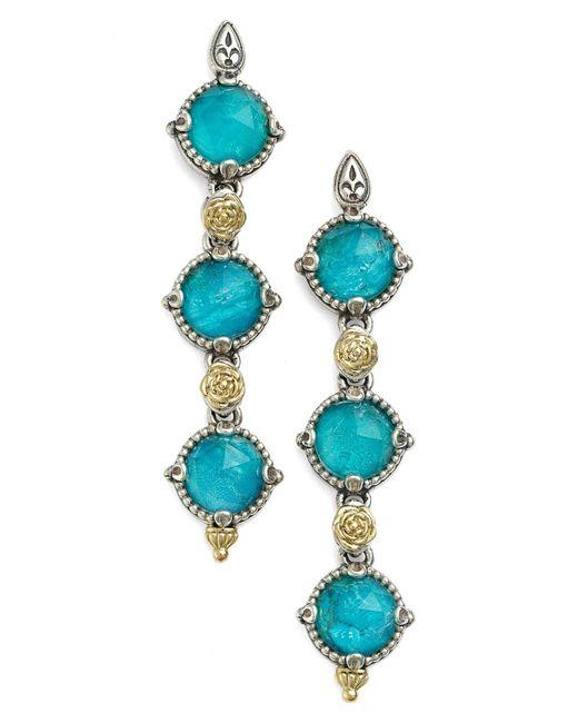 Konstantino Blue 'iliada' Triple Drop Earrings