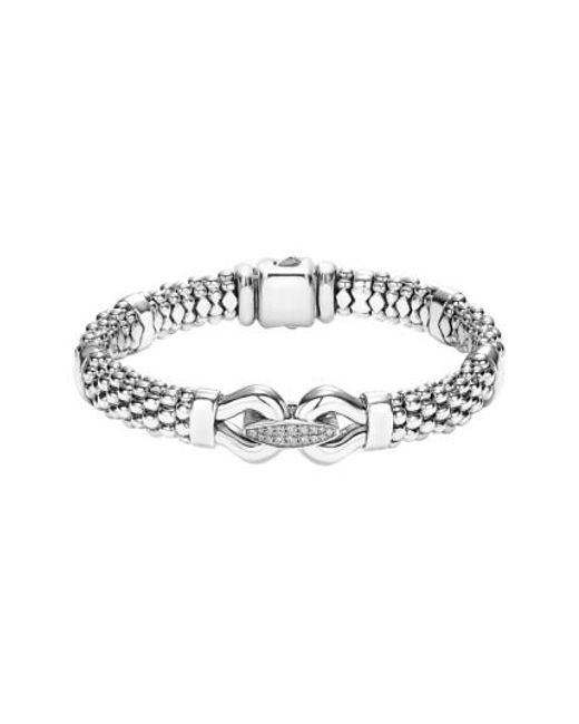 Lagos - Metallic 'derby' Diamond Buckle Rope Bracelet - Lyst