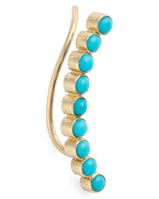 Zoe Chicco | Blue Turquoise Ear Crawler | Lyst