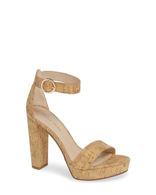 Pelle Moda - Metallic Palo 2 Platform Sandal - Lyst