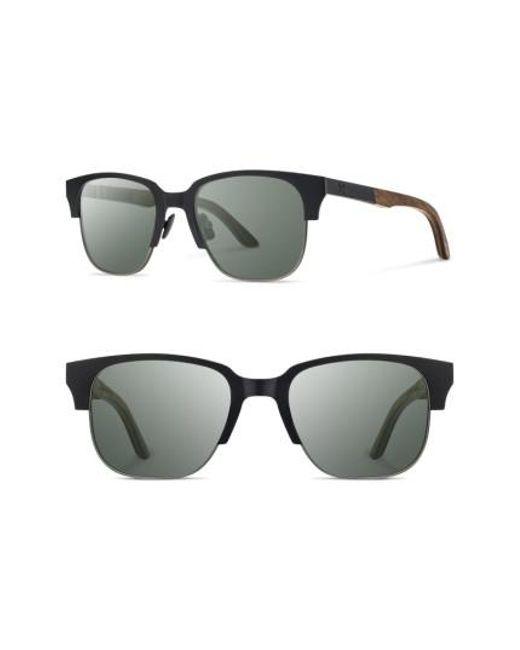 Shwood   Black Newport Titan 52mm Sunglasses for Men   Lyst
