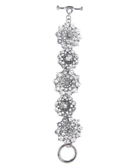 Oscar de la Renta   Metallic Swarovski Crystal Bracelet   Lyst