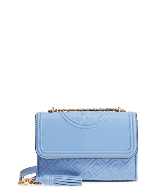 Tory Burch - Blue Small Fleming Leather Convertible Shoulder Bag - Lyst