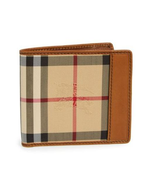 Burberry | Brown Haymarket Check Wallet for Men | Lyst