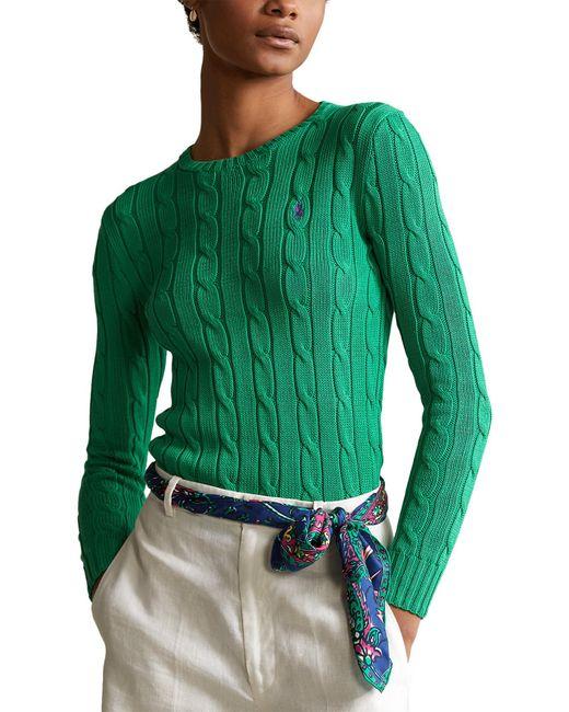 Polo Ralph Lauren Green Julianna Cable Sweater