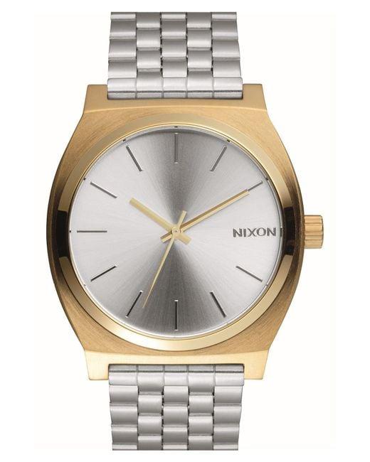 Nixon Metallic 'time Teller' Bracelet Watch