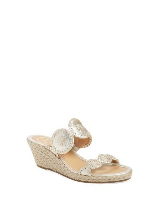Jack Rogers - Multicolor 'shelby' Whipstitched Wedge Sandal - Lyst