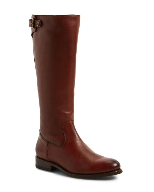 Frye - Brown Jayden Buckle Back Zip Boot - Lyst