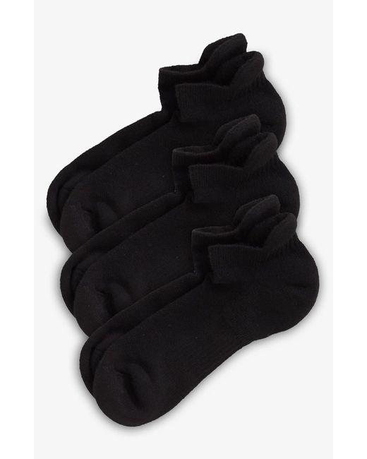 Zella Black 3-pack Tab Back Socks