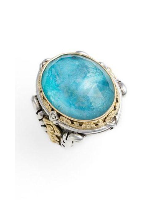 Konstantino | Blue 'iliada' Large Oval Semiprecious Stone Ring | Lyst