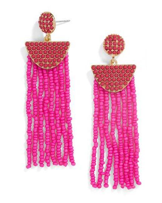 BaubleBar   Pink Beaded Deco Drop Earrings   Lyst