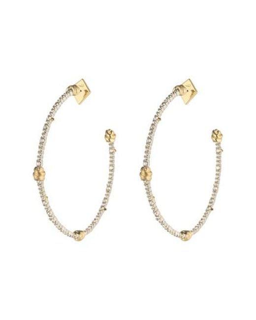 Alexis Bittar - Metallic Crystal Pave Knotted Hoop Earrings - Lyst