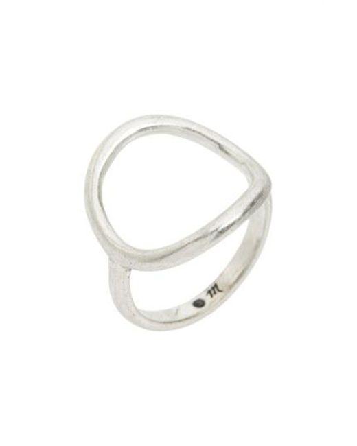 Madewell - Metallic Open Circle Ring - Lyst