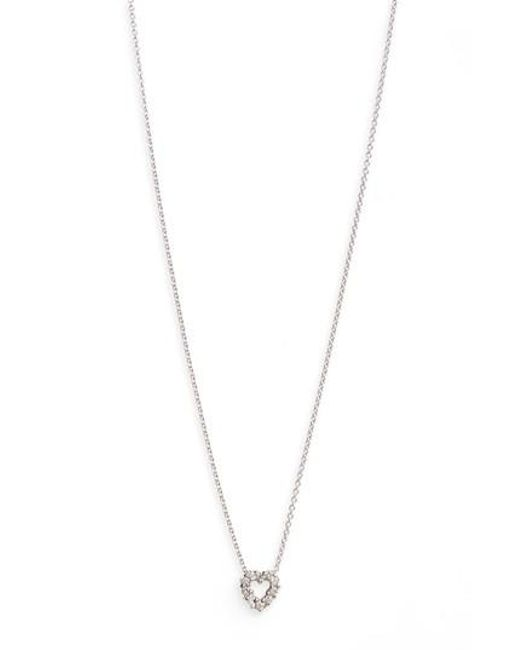 Roberto Coin | White 'tiny Treasures' Diamond Heart Pendant Necklace | Lyst