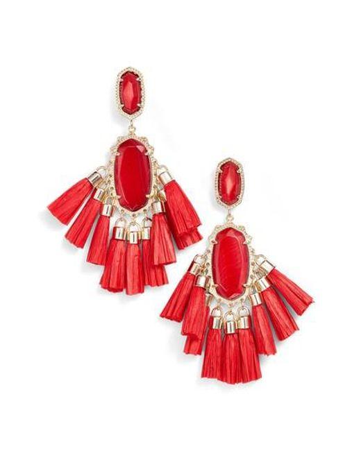 Kendra Scott - Red Kristen Earrings - Lyst