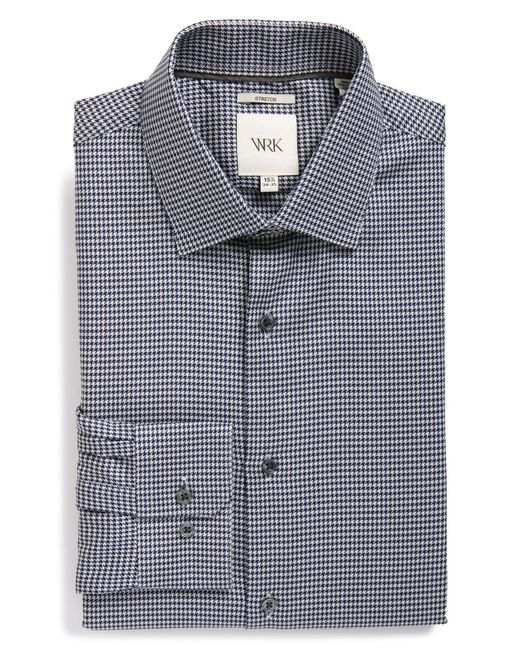 W.r.k. - Black Extra Trim Fit Stretch Houndstooth Dress Shirt for Men - Lyst