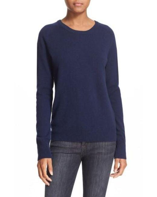 Equipment - Blue 'sloane' Crewneck Cashmere Sweater - Lyst