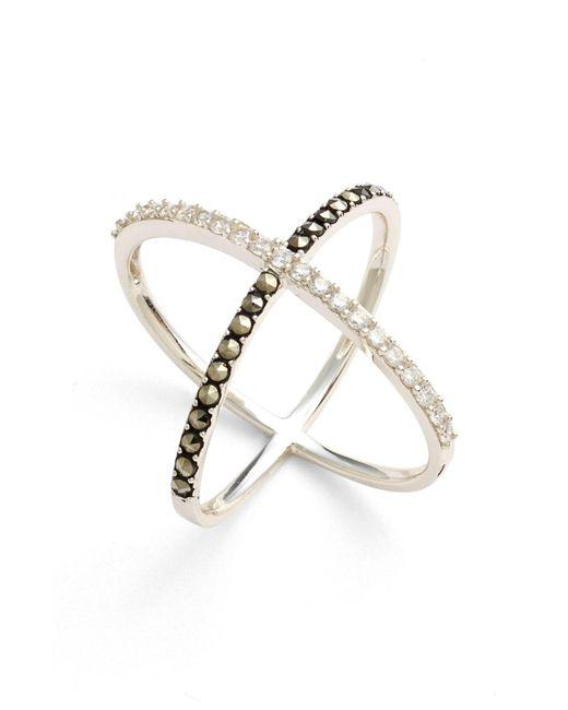 Judith Jack - Metallic 'rings & Things' Crossover Ring - Lyst