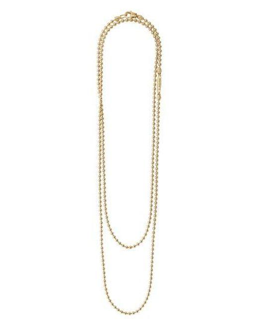 Lagos - Metallic Beaded Caviar Necklace - Lyst