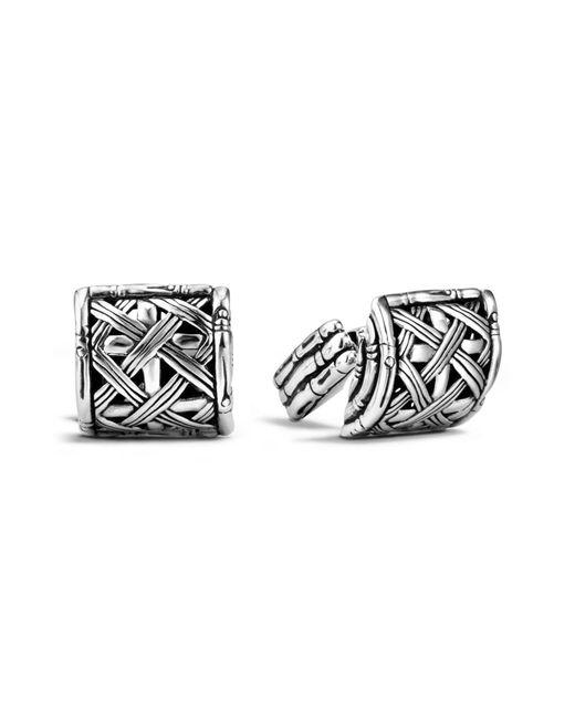 John Hardy - Metallic Bamboo Silver Woven Cuff Links for Men - Lyst