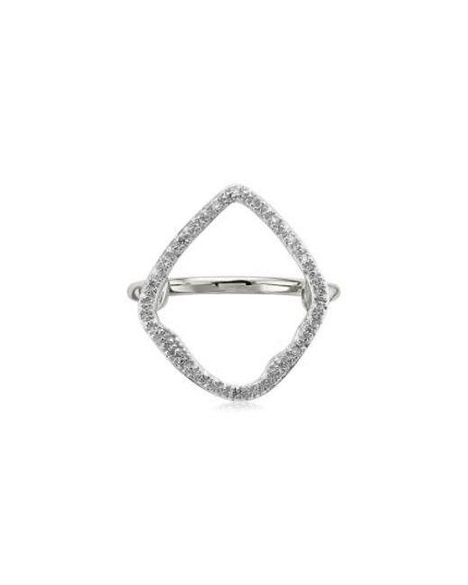 Monica Vinader   Metallic Riva Hoop Diamond Ring   Lyst