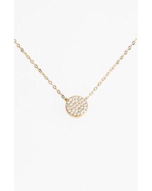 Nadri - Metallic 'geo' Small Pendant Necklace - Lyst