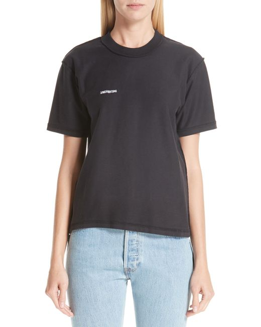 Vetements - Black Fitted Inside-out Tee - Lyst