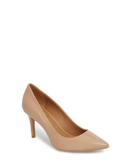 CALVIN KLEIN 205W39NYC - Natural 'gayle' Pointy Toe Pump - Lyst